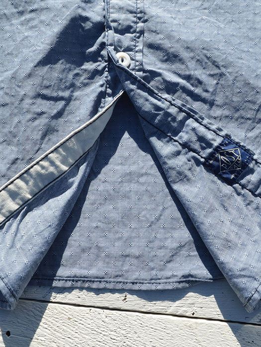 The POST 3 L/S Shirt (Dobby Chambray)