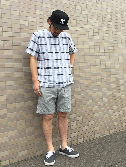 【TIME WILL TELL WORKS】 S/S IKAT CREW Tee