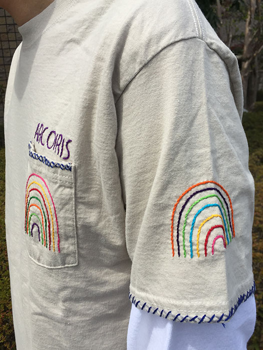 "【OAXACA】 S/S Pocket Tee ""ARCOIRIS"""
