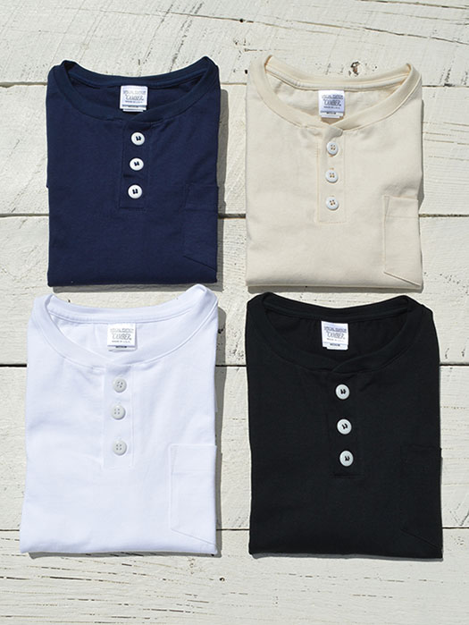 【CAMBER】 S/S Henley Neck Pocket Tee
