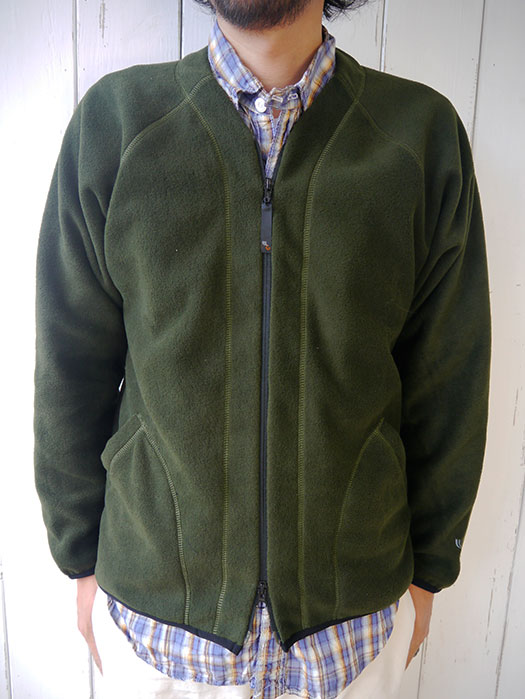 Fleece Zip Front V-Cardigan